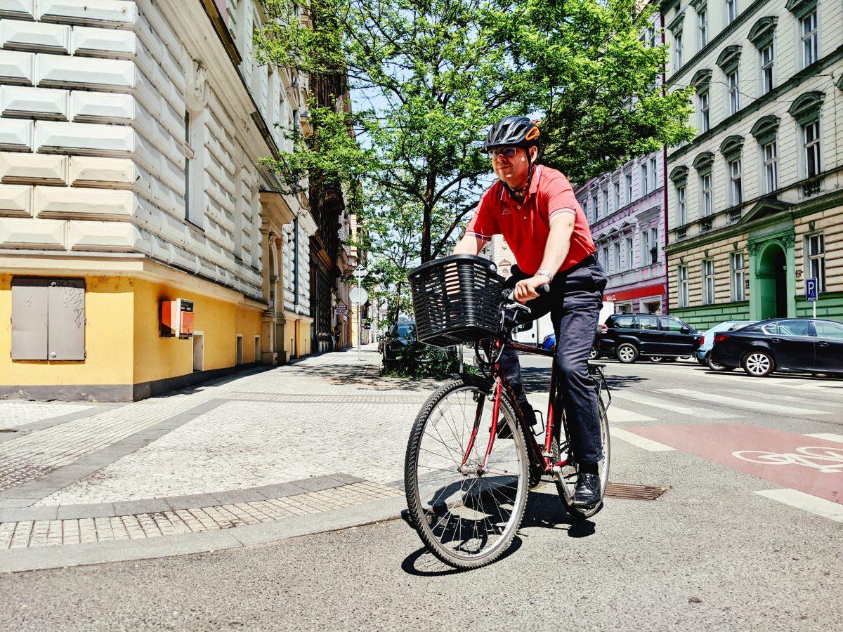 jízda v Praze na kole